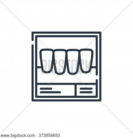 x ray icon isolated on white background from dental care collection. x ray icon trendy and modern x