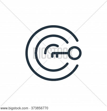 target icon isolated on white background from work office supply collection. target icon trendy and