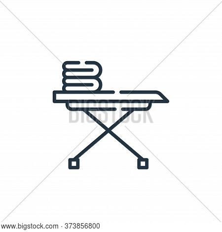 iron board icon isolated on white background from cleaning collection. iron board icon trendy and mo