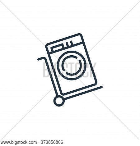 trolley cart icon isolated on white background from mall collection. trolley cart icon trendy and mo