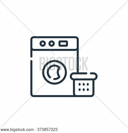 washing machine icon isolated on white background from free time collection. washing machine icon tr