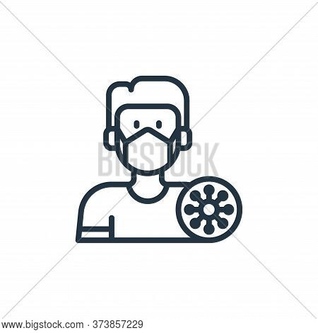 sick icon isolated on white background from coronavirus collection. sick icon trendy and modern sick
