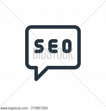 chat icon isolated on white background from web apps seo collection. chat icon trendy and modern cha