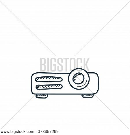 projector icon isolated on white background from technology collection. projector icon trendy and mo