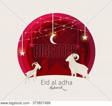 Eid Al Adha Mubarak The Celebration Of Muslim Community Festival Background.