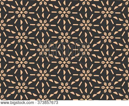 Repeat Islamic Graphic Thirties Texture Texture. Continuous Decorative Vector Wavy Deco Pattern. Rep