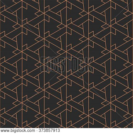 Continuous Minimal Vector Cell Deco Texture. Dark Fabric Graphic, Web Shapes Pattern. Repetitive Abs