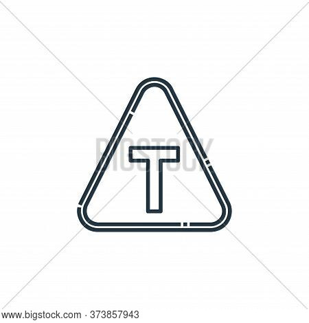 T Junction Vector Icon From Signaling Collection Isolated On White Background