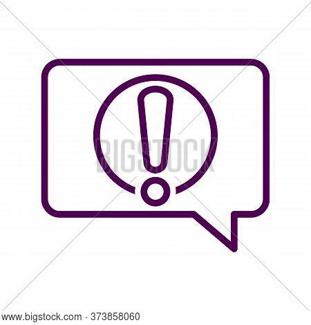 Black Line Icon For Alert-message Notification Reportage Message Information Conversation Alert