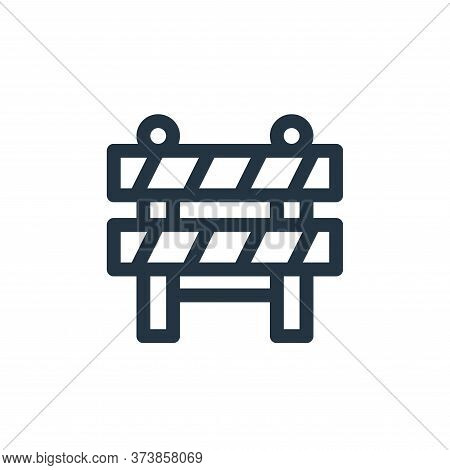 barrier icon isolated on white background from emergencies collection. barrier icon trendy and moder