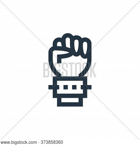 hand icon isolated on white background from rock and roll collection. hand icon trendy and modern ha