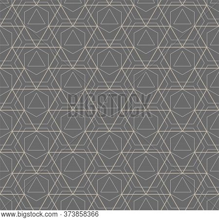 Repeat White Vector Technology, Art Texture. Repetitive Retro Graphic Poly Swatch Pattern. Continuou