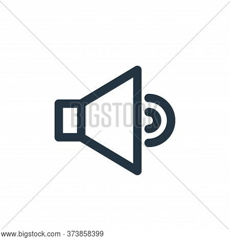 sound icon isolated on white background from multimedia collection. sound icon trendy and modern sou