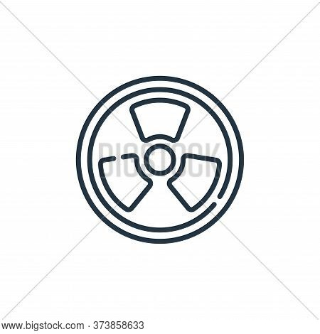 nuclear icon isolated on white background from climate change collection. nuclear icon trendy and mo