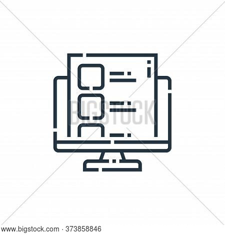 social media icon isolated on white background from videoblogger collection. social media icon trend