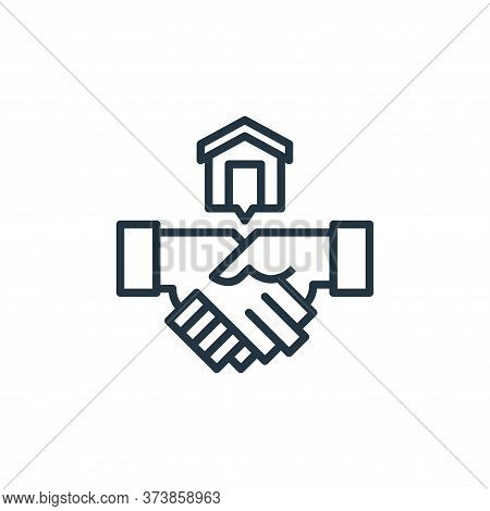 shaking hands icon isolated on white background from work from home collection. shaking hands icon t
