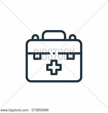 first aid kit icon isolated on white background from autoracing collection. first aid kit icon trend