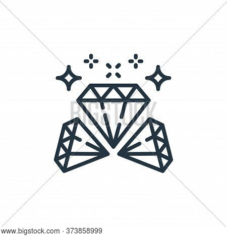 diamonds icon isolated on white background from money and currency collection. diamonds icon trendy