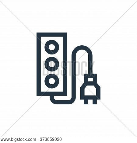 socket icon isolated on white background from electrician tools and elements collection. socket icon