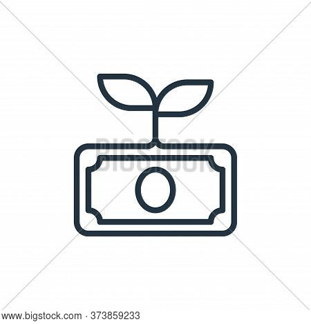 growth icon isolated on white background from money collection. growth icon trendy and modern growth