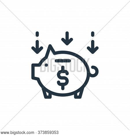 save money icon isolated on white background from ecommerce collection. save money icon trendy and m