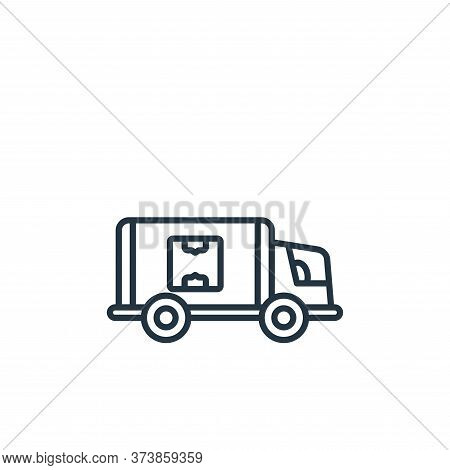 delivery truck icon isolated on white background from shipping and delivery collection. delivery tru