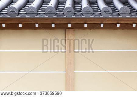 Close-up Walls And Eaves Ancient Japanese Style