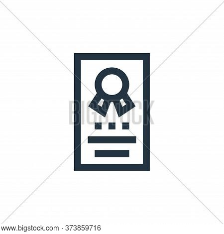 certification icon isolated on white background from job resume collection. certification icon trend