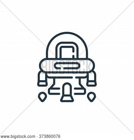 spaceship icon isolated on white background from robotics collection. spaceship icon trendy and mode
