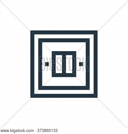 light switch icon isolated on white background from electrician tools and elements collection. light