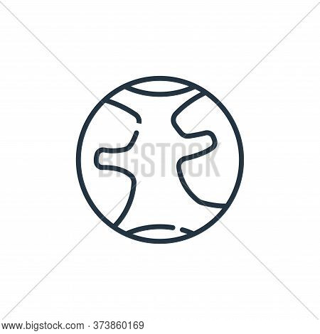 earth icon isolated on white background from climate change collection. earth icon trendy and modern