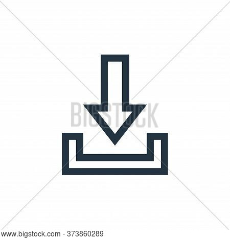 download icon isolated on white background from web essentials collection. download icon trendy and