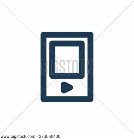 mp player icon isolated on white background from electronics collection. mp player icon trendy and m