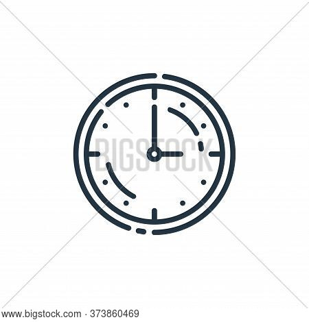 clock icon isolated on white background from startup collection. clock icon trendy and modern clock