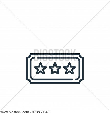 ticket icon isolated on white background from fame collection. ticket icon trendy and modern ticket