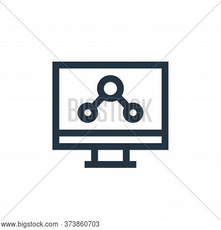 computer icon isolated on white background from marketing and growth collection. computer icon trend