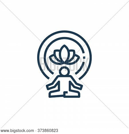 meditation icon isolated on white background from work life balance collection. meditation icon tren