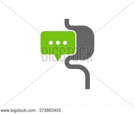 Consult Stomach Logo Vector Template, Creative Stomach Logo Design Concepts