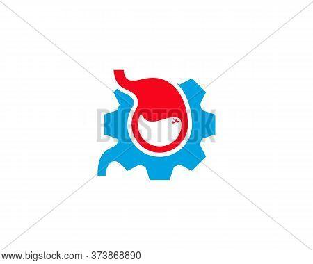 Stomach Gear Logo Vector Template, Creative Stomach Logo Design Concepts