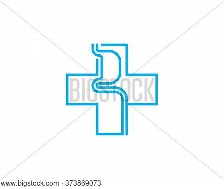 Health Stomach Logo Vector Template, Creative Stomach Logo Design Concepts