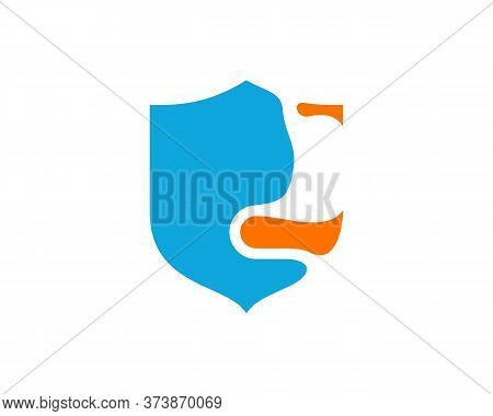 Shield Stomach Logo Vector Template, Creative Stomach Logo Design Concepts