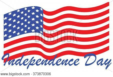 Independence Day American Flag in Red White and Blue