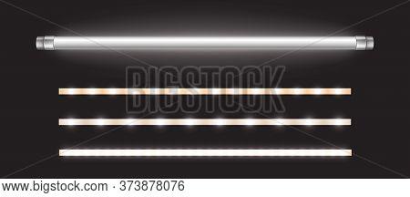 Tube Lamp And Led Strips, Long Luminescence Fluorescent Energy Saving Bulb Of Daytime Scattered Ligh