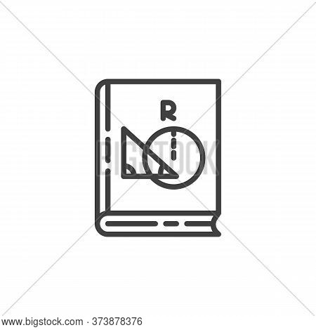 Geometry Book Line Icon. Linear Style Sign For Mobile Concept And Web Design. Algebra Book Book Outl