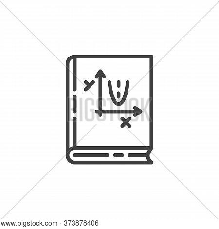 Algebra Book Line Icon. Linear Style Sign For Mobile Concept And Web Design. Geometry Book Outline V