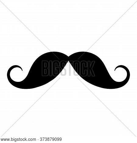 Moustache Icon, Vector Sticker. Black Isolated Silhouettes For Cinco De Mayo Paper Cutting Design. M