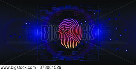 Fingerprint Scanning Security System. Biometric Identification Using Touch Scanning. The Security Of