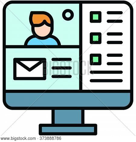 Video Conference, Telecommuting Or  Remote Work Related Icon