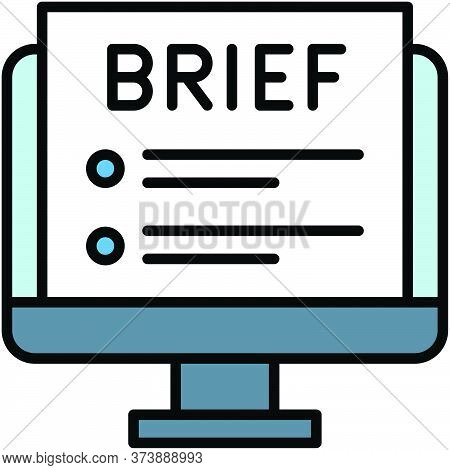 Brief, Telecommuting Or Remote Work Related Icon, Vector Illustration