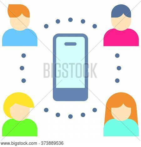 Mobile Network, Telecommuting Or Remote Work Related Icon, Vector Illustration